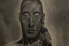 """""""Undaunted"""" Acryllack auf Leinwand 50 x 50 x 4 cm"""