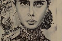 """Magnolia"" Acryllack auf Leinwand 30 x 40 cm"