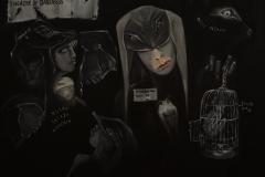 """""""Theatre of Darkness """" Öl auf Leinwand 80 x 100 cm"""