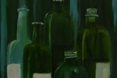 """Bottles"" Acryl auf Leinwand 30 x 40 cm"